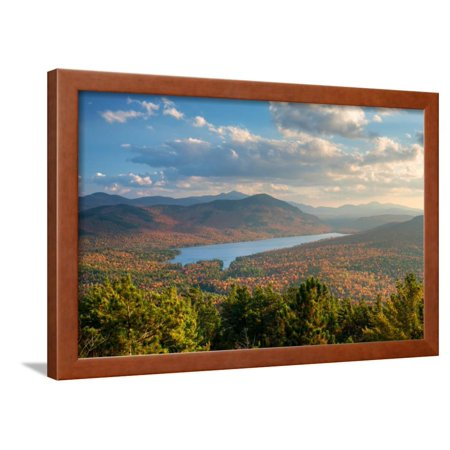 Taylor Pond seen from Silver Mountain, Adirondack Mountains State Park, New York State, USA Framed Print Wall Art