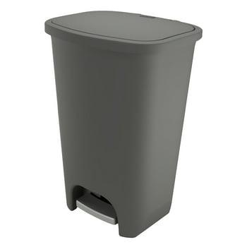 Glad Plastic Step Trash Can, 20 Gallon