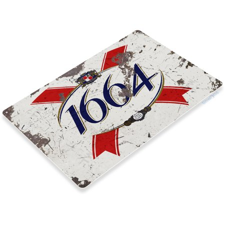 TIN SIGN 1664 French Beer Rustic Bar Metal Sign Decor Pub Cottage Cave