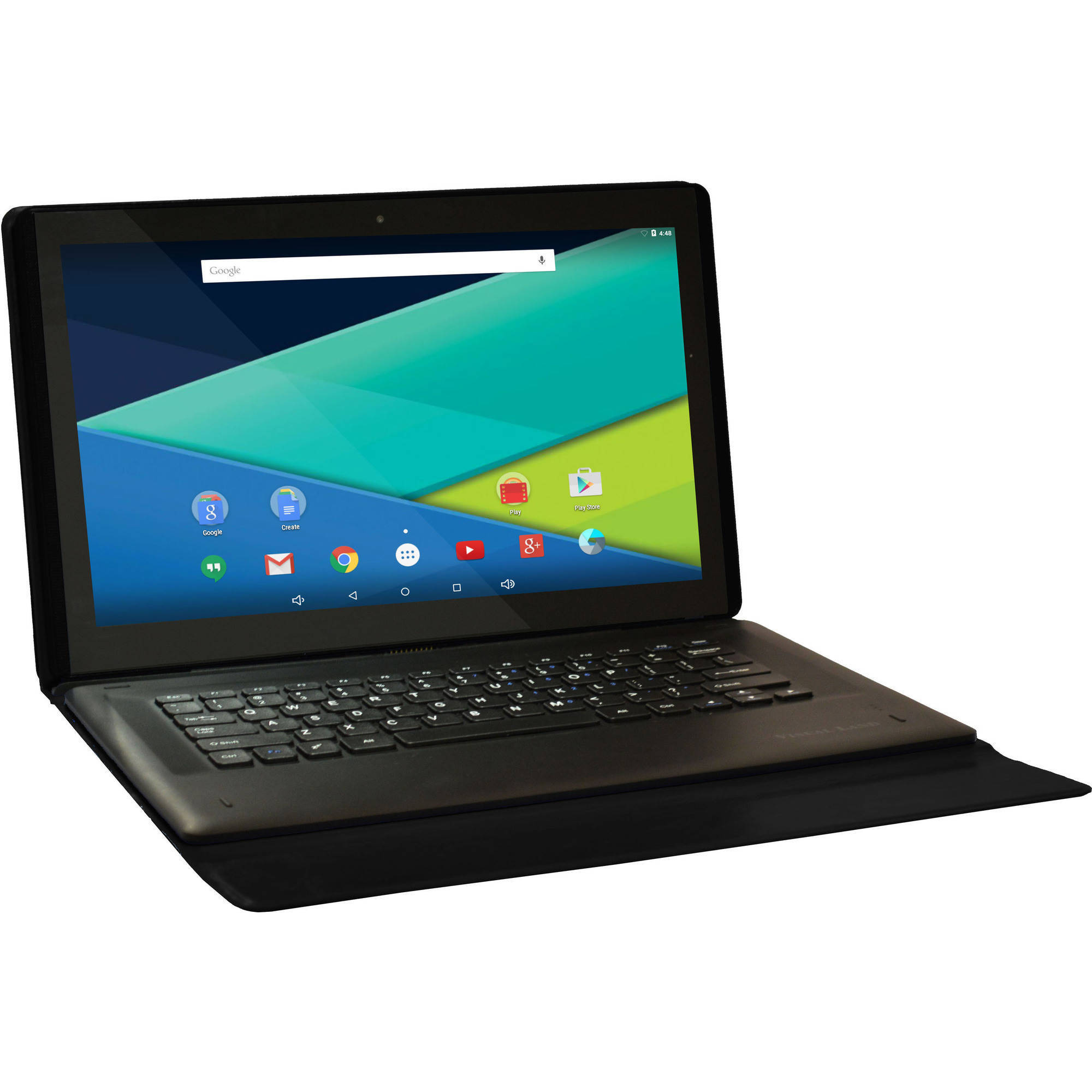 "Visual Land 13.3"" IPS QuadCore 2-In-1 Tablet - 64GB includes Docking Keyboard Case - Android 5.1 Lollipop"