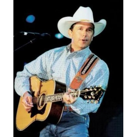 George Strait Poster Guitar 24in x36in