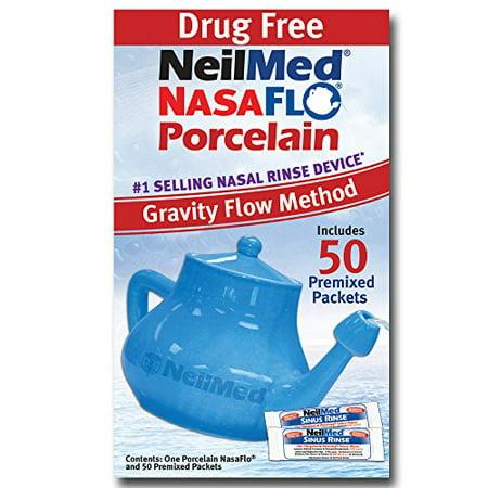 Neilmed Nasaflo Porcelain Neti Pot With Packets 60 Ea Walmart