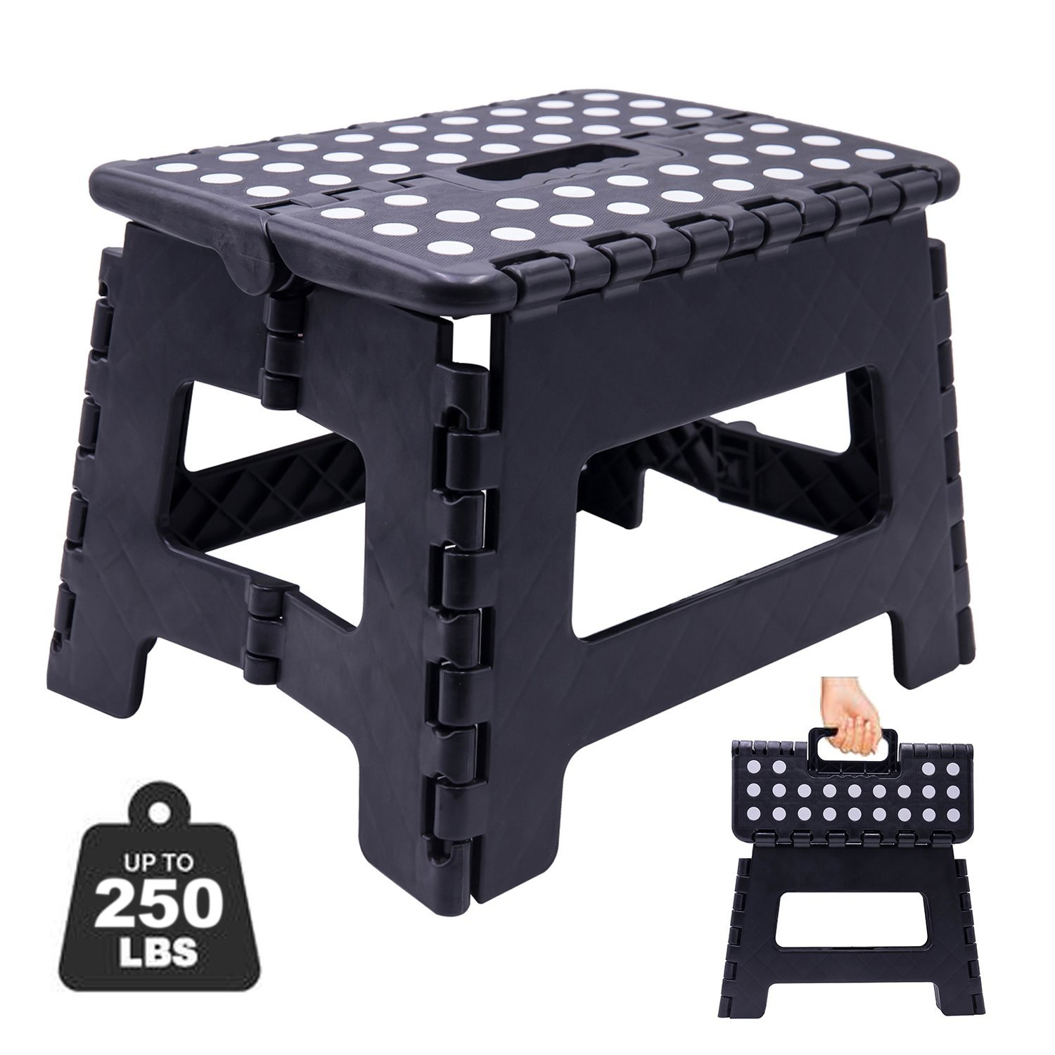 Folding Step Stool Super Strong Plastic 9 Inch Step Stool