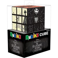 Nightmare Before Christmas Rubik's Cube | Collectible Puzzle Cube Featuring Characters - Jack, Sally, Oogie Boogie, Zero, as Well as Lock, Shock, and Barrel