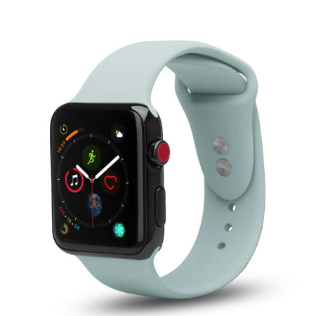 4 Pack Bundle Apple Watch 38/40mm Soft Silicone Sport Strap Loop Band Series 4 3 2 1 Nike+ (Purple,Mint, Pink, Peach) - image 4 of 5