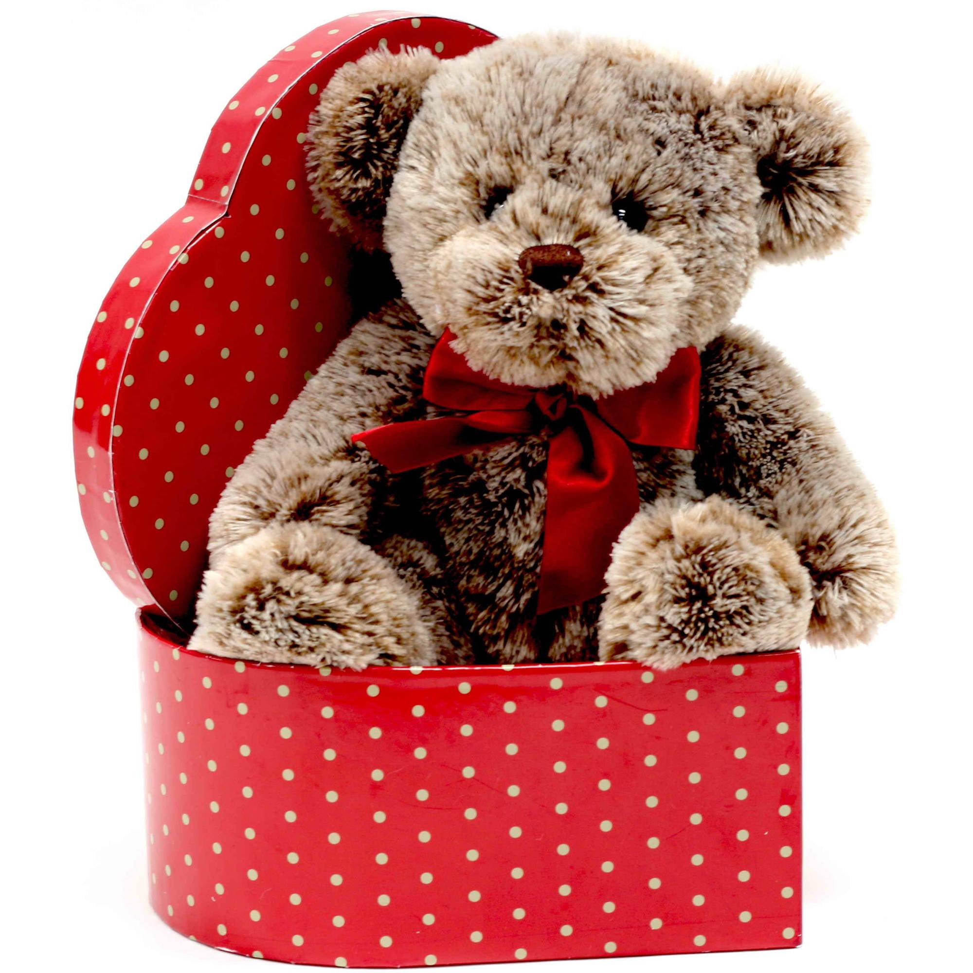 Außergewöhnlich Valentine Glamorous Stuffed Plush Teddy With Red Heart Gift Box   Walmart .com