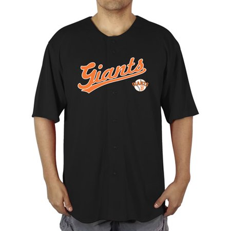 MLB San Francisco Giants Men's Poly Button Down Jersey