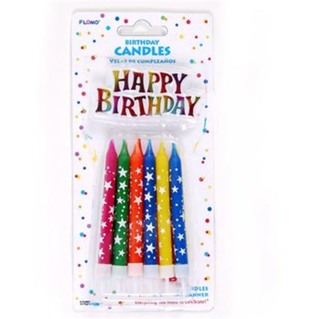 Ddi 2277017 Birthday Candles With Holders Happy Cake Banner44 Case Of 36
