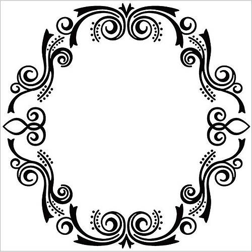 "Nellie's Choice Embossing Folder, 5"" x 5"", Oval Frame 2"