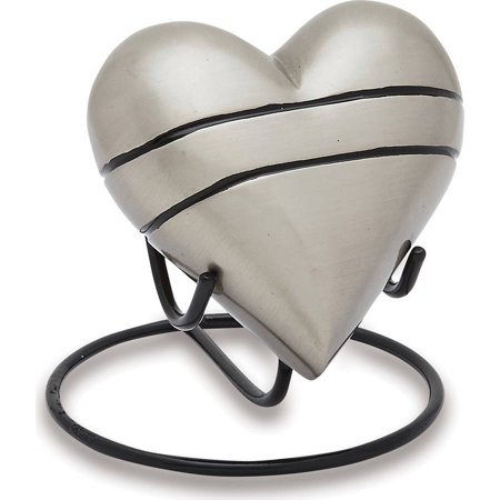 Urns Direct 2U Classic Pewter Keepsake Heart, Set of -