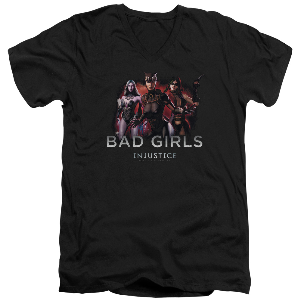 Injustice Gods Among Us Bad Girls Mens V-Neck Shirt