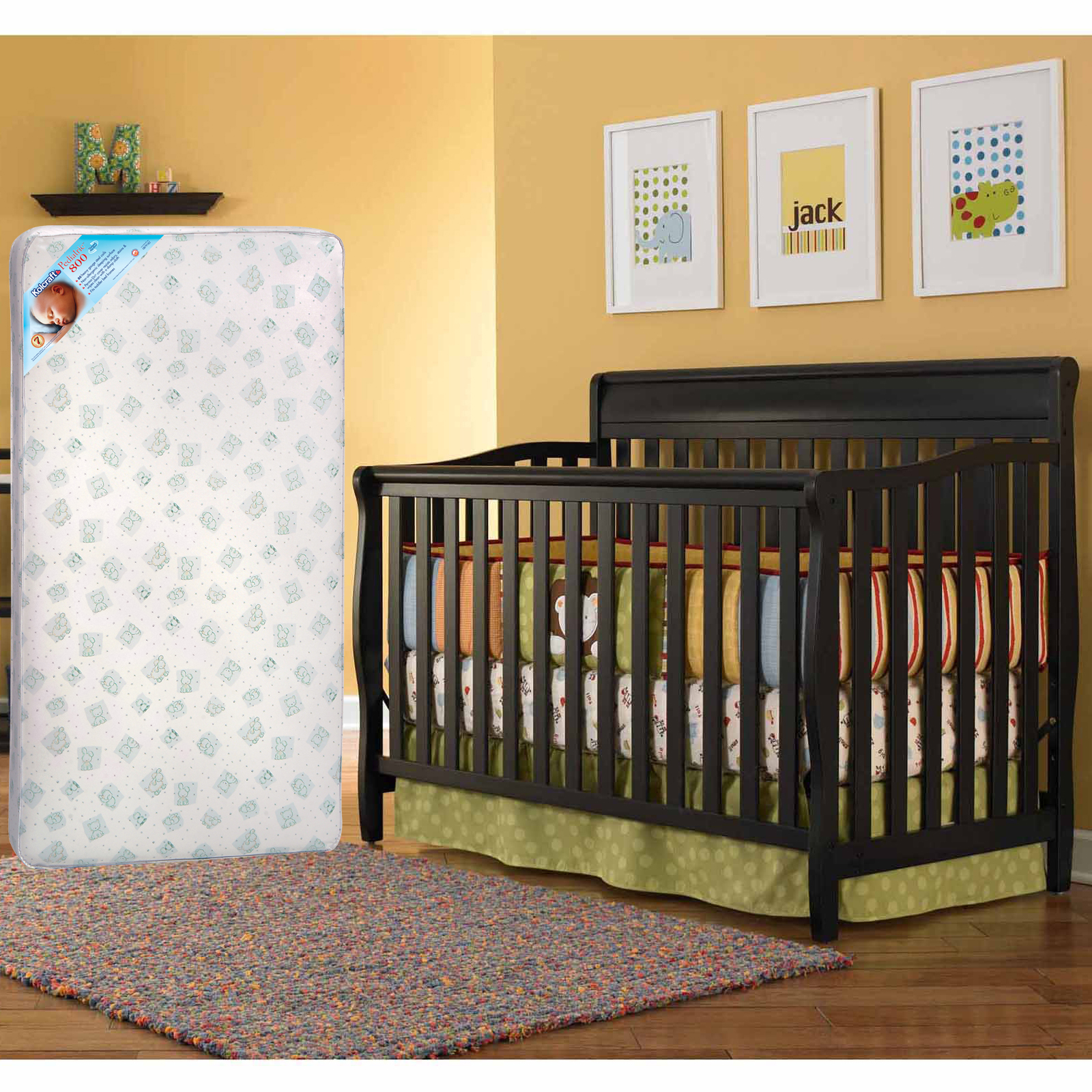 Graco Stanton 4 in 1 Convertible Crib and BONUS Kolcraft Mattress Bundle