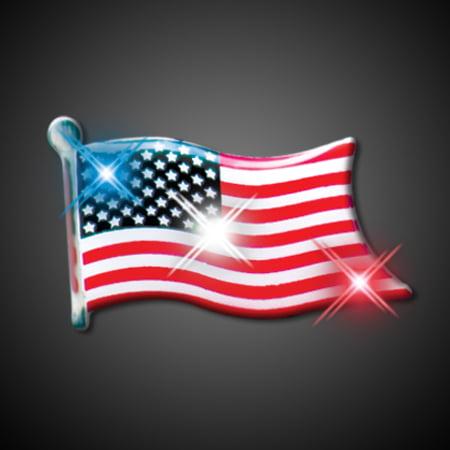 Light Up Pin (FlashingBlinkyLights American Flag Flashing LED Light Up Body Light)