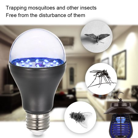 7W 25 LED 365nm UV Light Bulb AC100V-240V A19 Ultraviolet Blacklight with E27 Lamp Base for Sterilization Attracting Insects Monetary Validation Identify Fluorescent Dyes - image 4 de 7