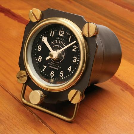 Altimeter Clock (Fighter Pilot Altimeter Aluminum Desk Clock - Great Father's Day Gift)