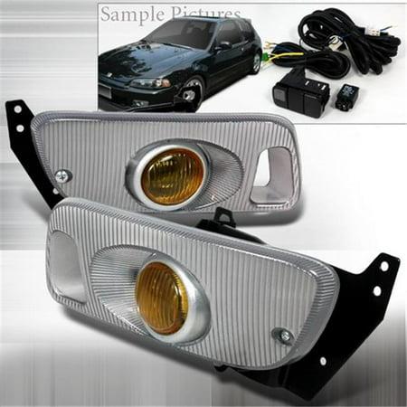Yellow Oem Spec - Spec-D Tuning LF-CV923AMOEM OEM Yellow Fog Lights for 92 to 95 Honda Civic, 10 x 12 x 18 in.