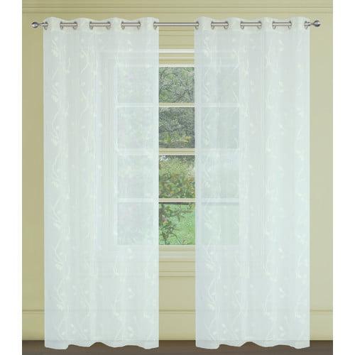 LJ Home Farah Sheer Curtain Panels (Set of 2)