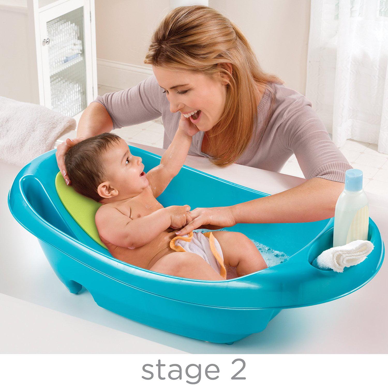 Summer Infant Splish \'n Splash Newborn to Toddler Tub, Blue ...