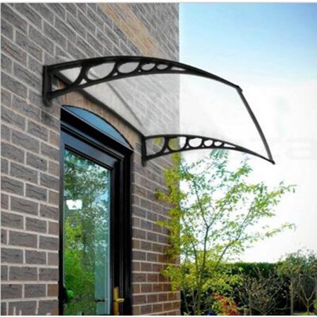 Zimtown 40 X 30 Outdoor Front Door Window Awning Patio Eaves Canopy Pc Cover Uv Rain Snow Protection White Black