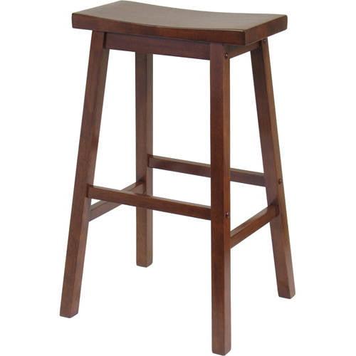 Winsome Wood Satori Saddle Seat Bar Stool 29 Black Walmart Com Walmart Com