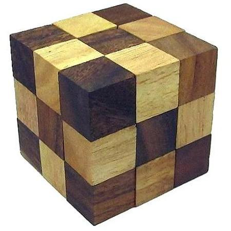 Snake Cube (Medium) Brain Teaser Wooden Puzzle