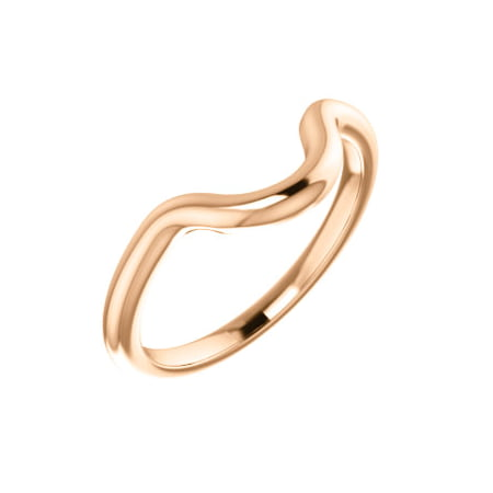 Jewels By Lux 14K Rose Gold Band Mounting for 7x5mm Oval Ring