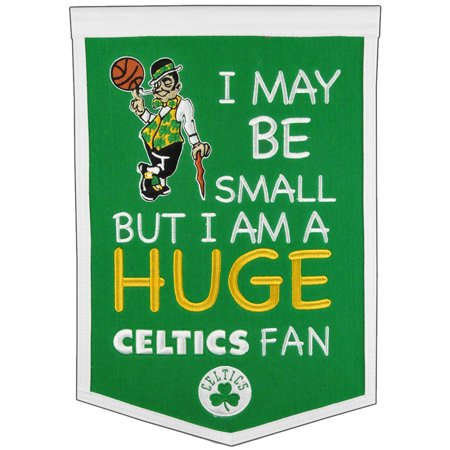 "Boston Celtics 12"" x 18"" Lil Fan Traditions Banner - No Size"
