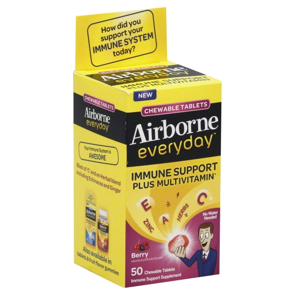 Airborne® Everyday™ Berry Immune Support Supplement Chewable Tablets 50 ct Box