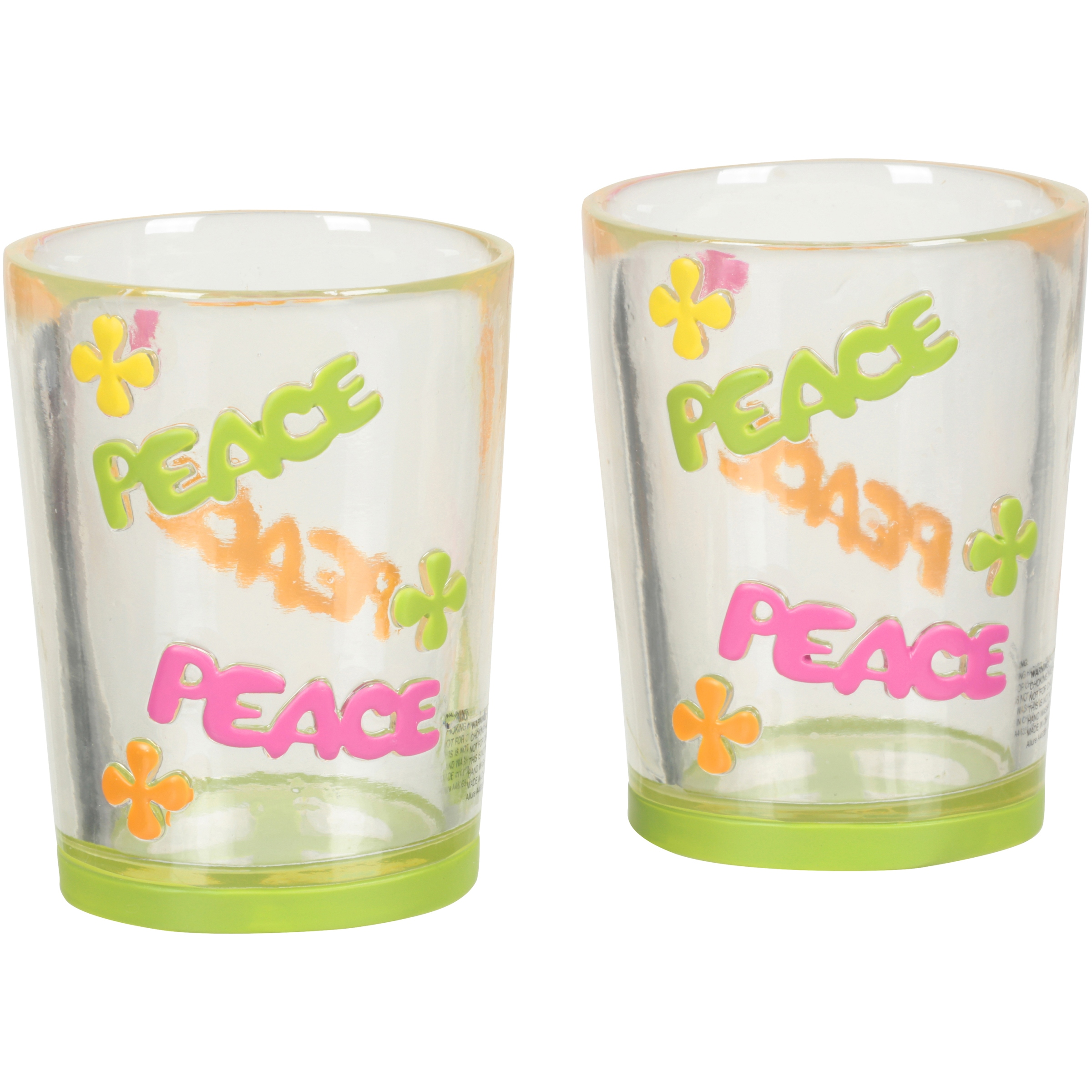 Challis & Roos® Peace Out Resin Tumbler 2 ct Box.