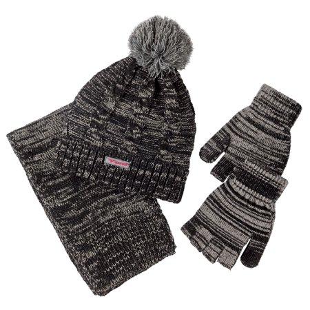 363338bc2 Sportoli Women s and Girls  Kids 2-Piece Lurex Knit Cold Weather Accessory  Set Warm