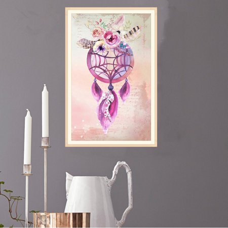 Dream Catcher DIY Rhinestone Painting Cross-stitch Embroidery Needlework Decor Pictures Stitchwork Drawings (Dreams Embroidery)