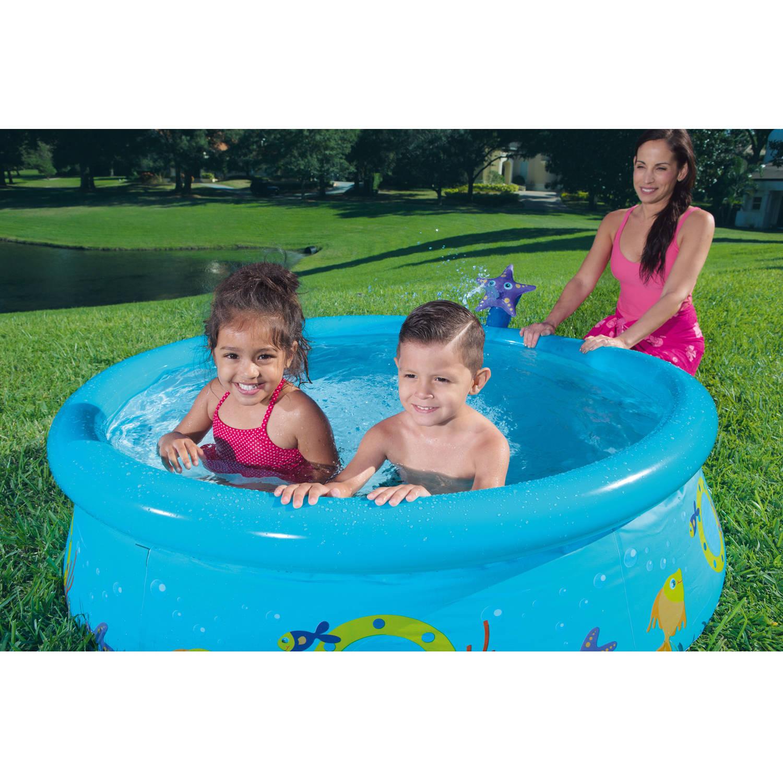 "H2OGO! 5' x 15"" My First Fast Set Spray Kiddie Pool, Starfish"