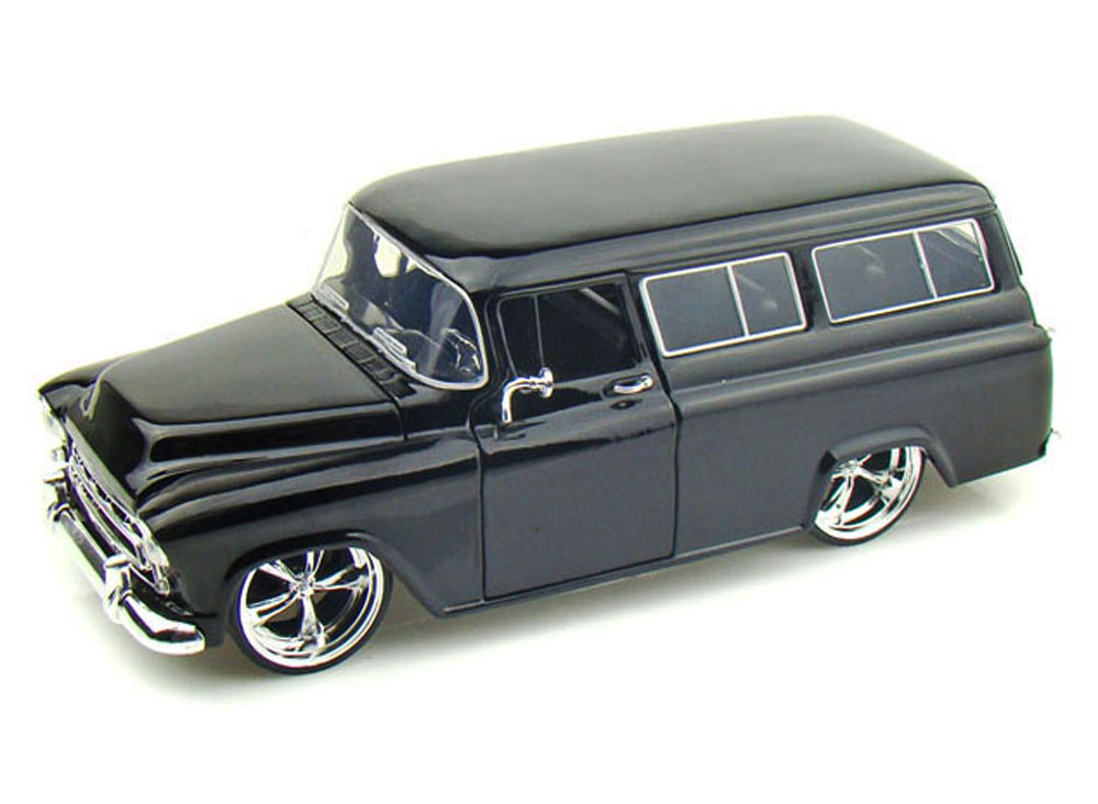 1957 Chevy Suburban, Black Jada Toys Bigtime Kustoms 50267 1 24 scale Diecast Model Toy... by Jada