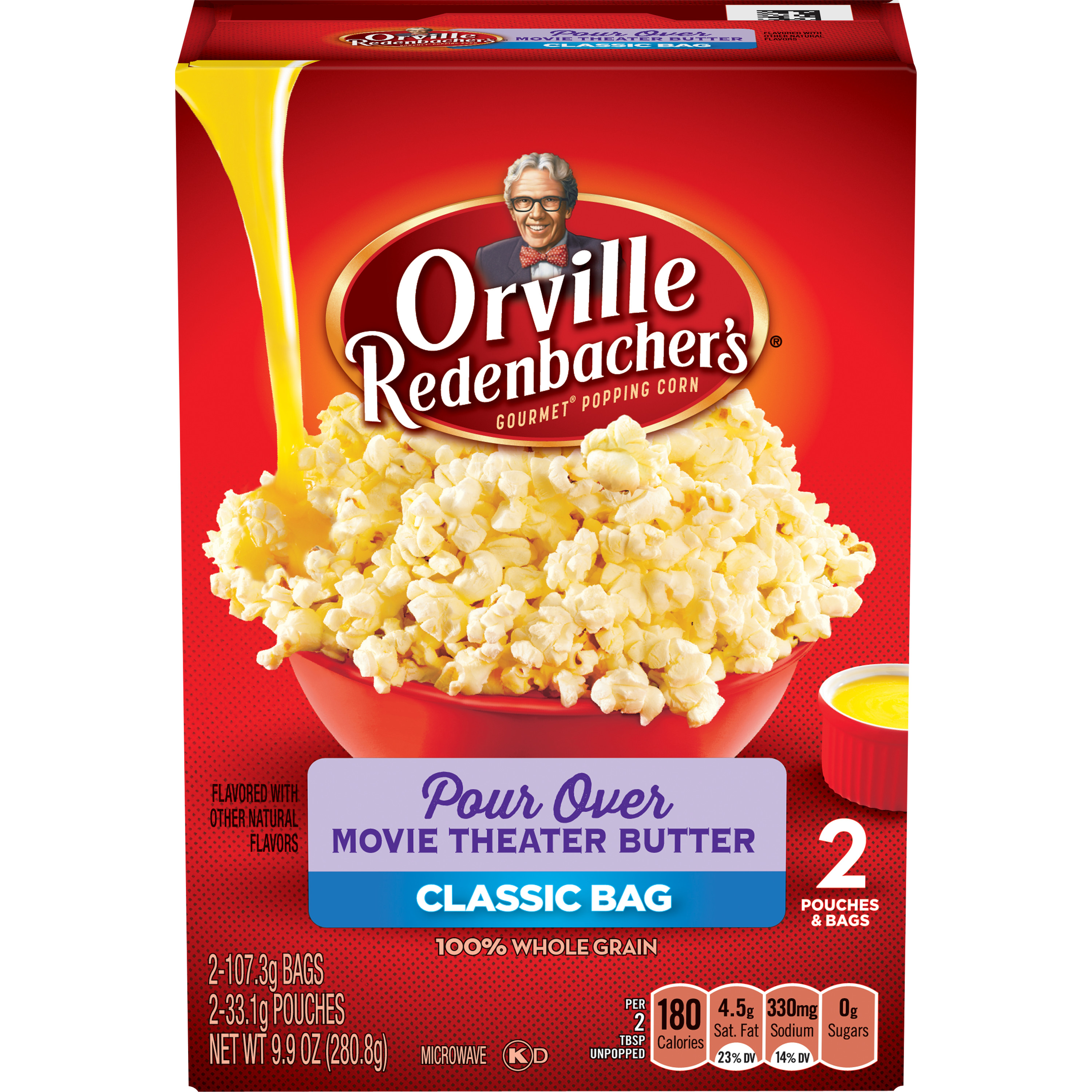 Orville Redenbacher's Pour Over Movie Theater Butter Microwave Popcorn, 2 pk