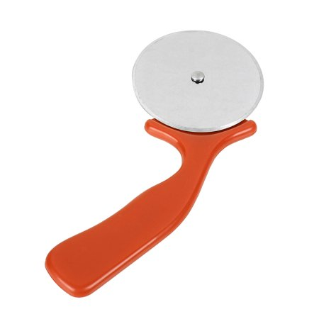 Kitchen Plastic Handle Metal Pizza Cutter Wheel Slicer  Red Silver Tone Plastic Pizza Wheel