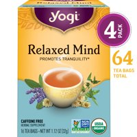 (Pack of 4) Yogi Tea, Relaxed Mind Tea, Tea Bags, 16 Ct, 1.12 OZ