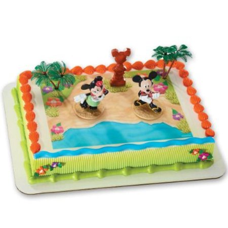 Mickey Mouse And Friends Luau Party DecoSet Cake Decoration