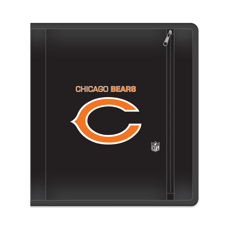 "NFL Chicago Bears Zippered 3 Ring Binder, 250 Sheet Capacity, 1.625"" Metal Rings"