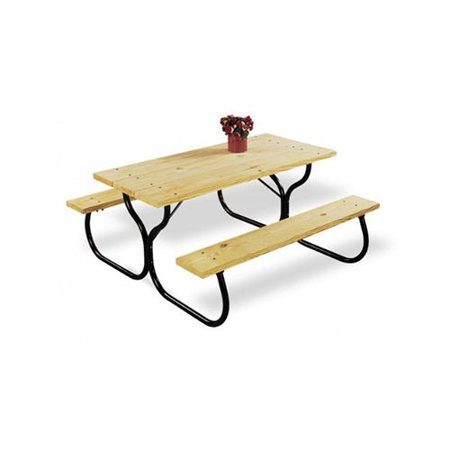 Jack-Post Black Metal Picnic Table Frame