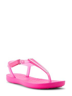 Wonder Nation Pink Pop Jelly Strap Sandal (Little Girls & Big Girls)