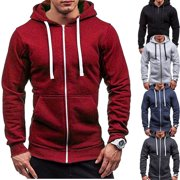 New Mens Winter Hoodie Warm Coat Jacket Slim Hooded Sweatshirt Outwear Sweater