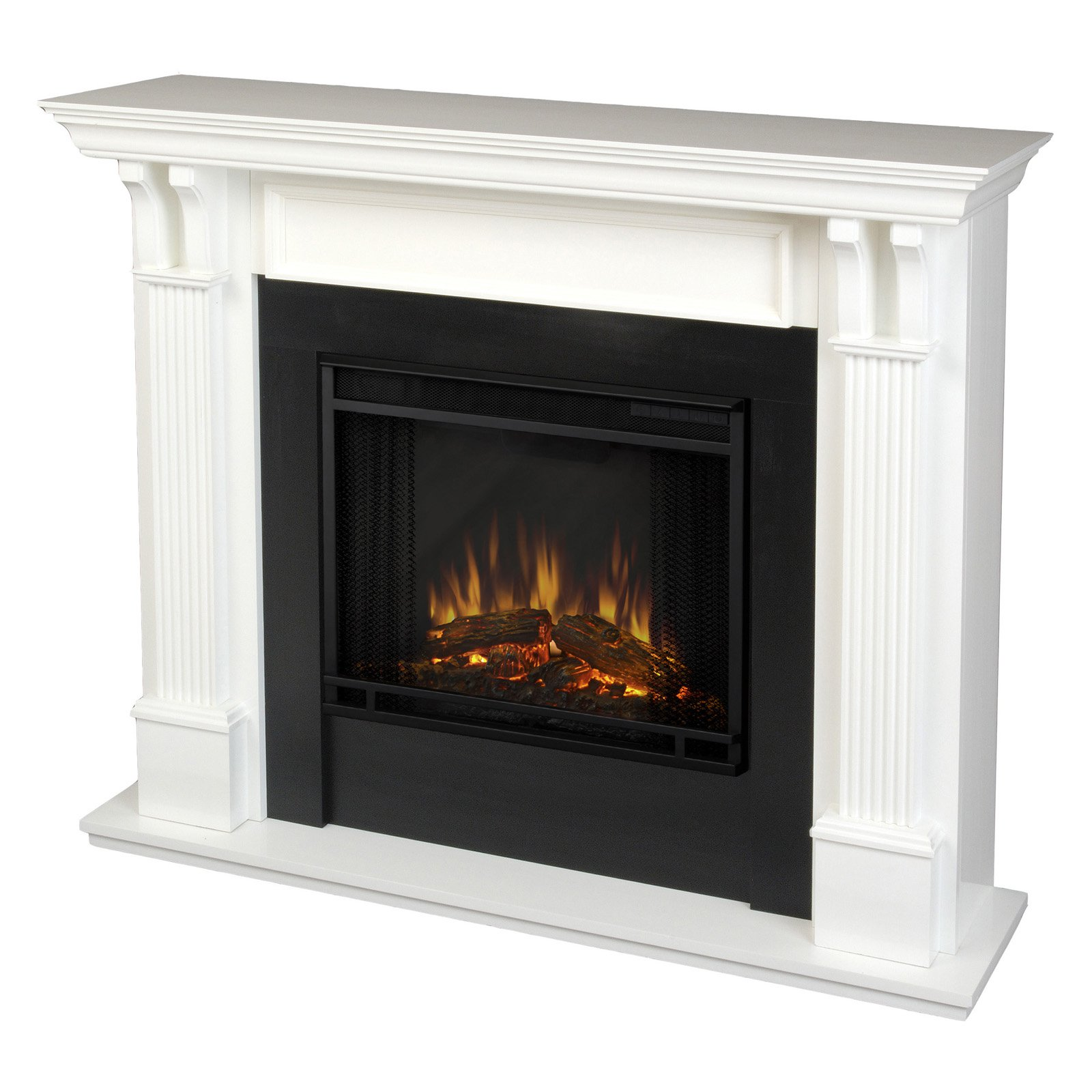 Real Flame Ashley Indoor Electric Fireplace - White - Walmart.com
