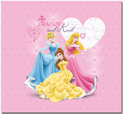 "Trends Princess Glitter & Embossed Post Bound Album 12""X12""-"