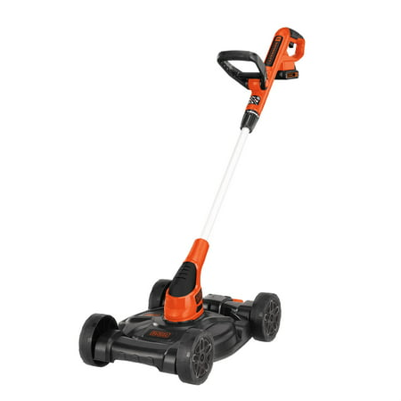 "BLACK+DECKER MTC220 20V MAX Cordless 12"" Lithium-Ion 3-in-1 Trimmer/Edger and Mower + 2 Batteries"