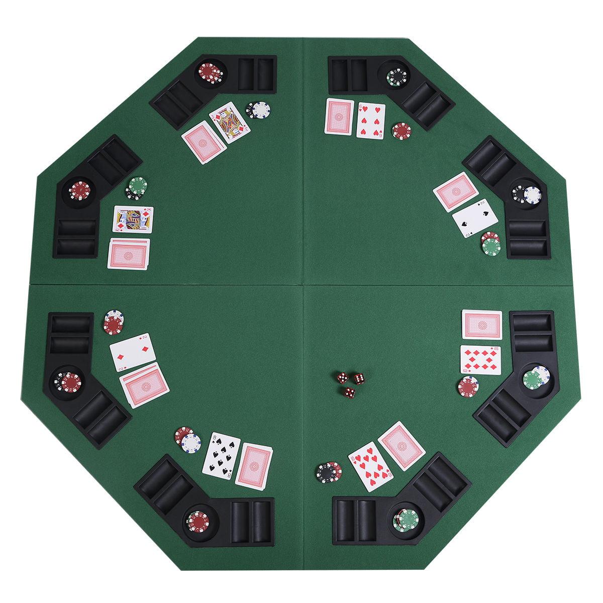 Seats 8 BRAND NEW Folding Poker Table Top