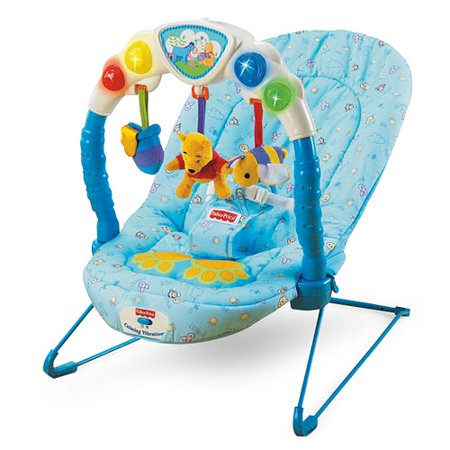 b2c0fb7ad0cd Fisher Price Pooh Kick   Play Bouncer - Walmart.com
