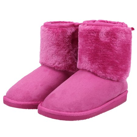 90a37e1edc3 Simplicity - Kids Winter Boots Faux Fur Lined boys girls Winter Warm Snow  Boots 11 - Walmart.com
