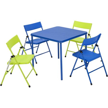 cosco 5 piece kid 39 s table and chair set multiple colors. Black Bedroom Furniture Sets. Home Design Ideas