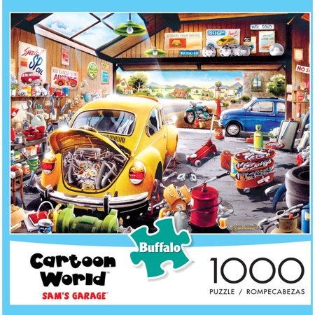 Buffalo Games 1 000 Piece Puzzle  Cartoon Series  Sams Garage