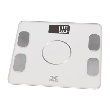 Kalorik Ebs 42573 W Bluetooth White Electronic Body Fat Scale With Ysis
